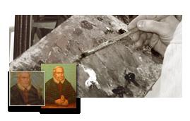 Gemälderestaurierung und Schadensbehebung